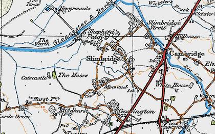 Old map of Slimbridge in 1919