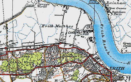 Old map of Sloane Square in 1920