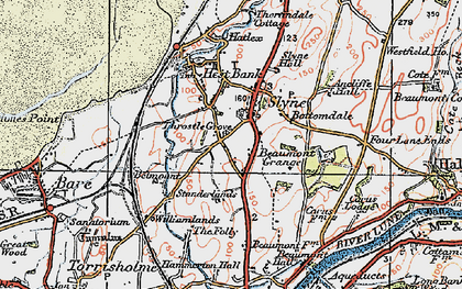 Old map of Slyne in 1924