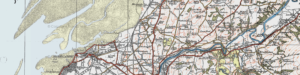 Old map of Ancliffe Hall in 1924