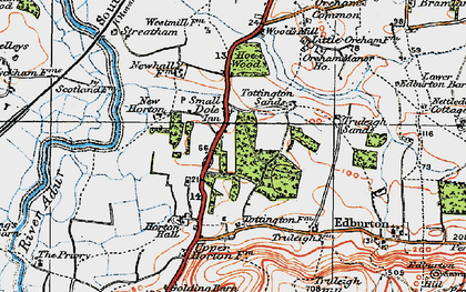 Old map of Woods Mill in 1920