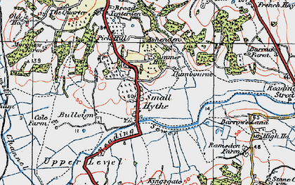 Old map of Small Hythe in 1921