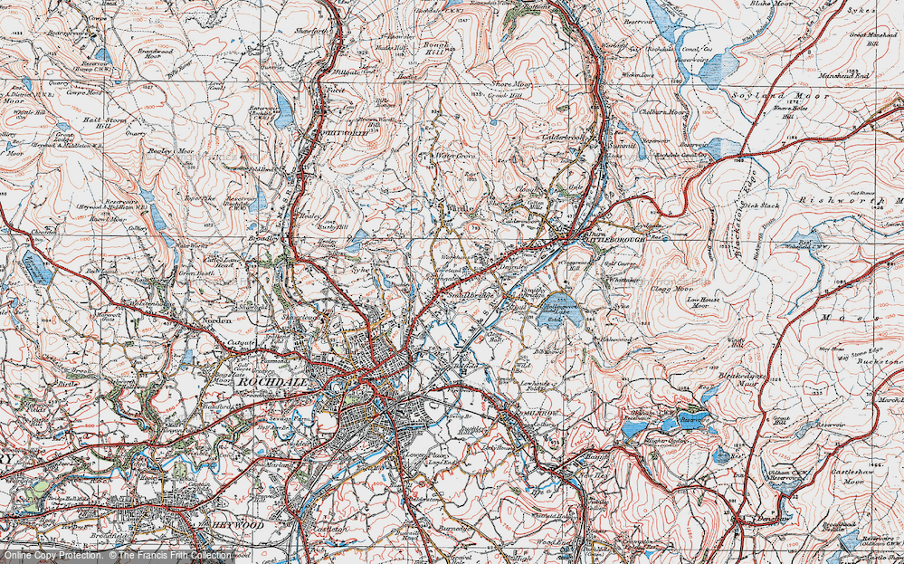 Old Map of Smallbridge, 1925 in 1925