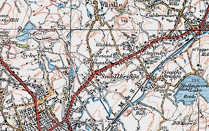 Old map of Smallbridge in 1925