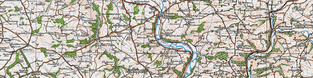 Old map of Wixland in 1919