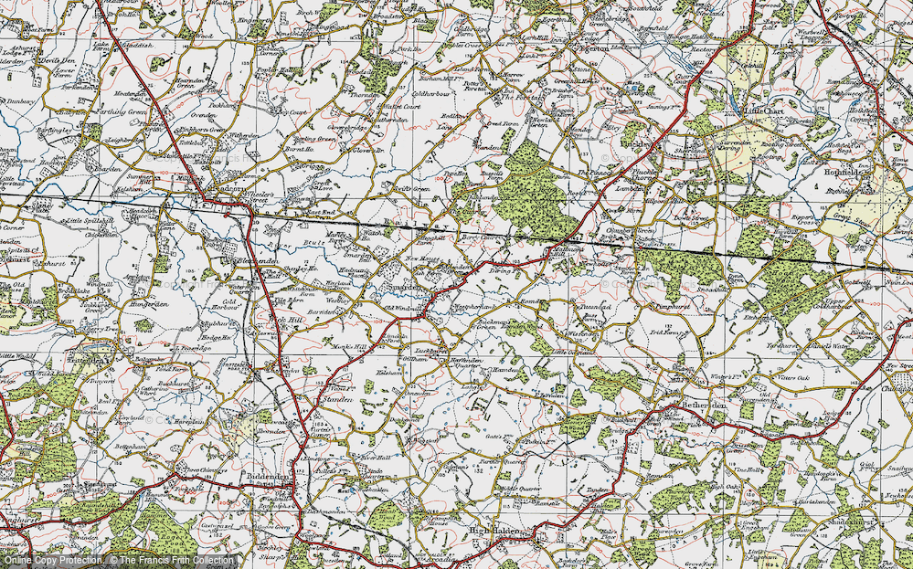 Old Map of Smarden, 1921 in 1921