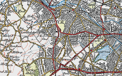 Old map of Smethwick in 1921