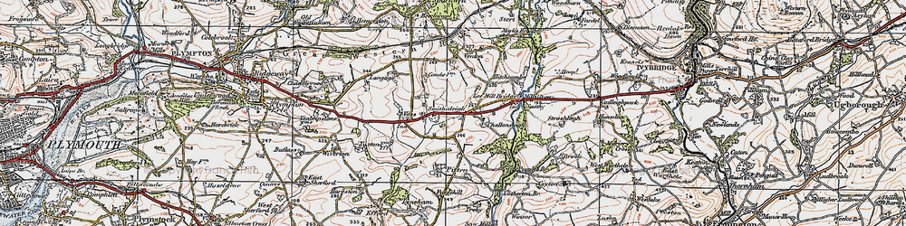 Old map of West Pitten in 1919