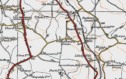 Old map of Lavenham Lodge in 1921