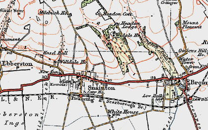 Old map of Snainton in 1925