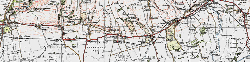 Old map of Wydale Cote in 1925