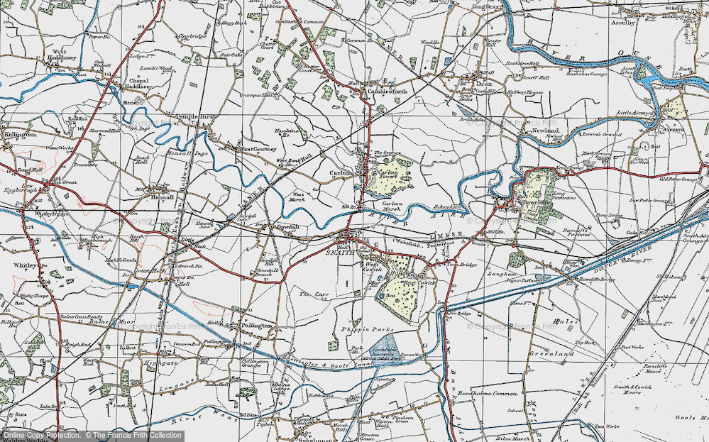 Old Map of Snaith, 1924 in 1924