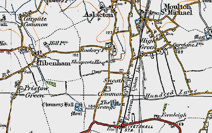 Old map of Tibenham Airfield in 1921