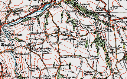 Old map of Laund Ho in 1925