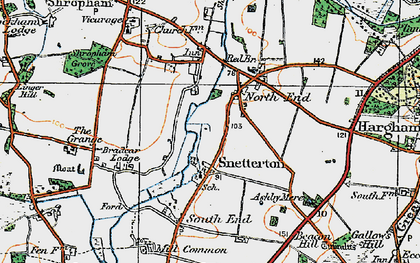 Old map of Linger Hill in 1920