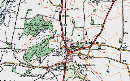 Old map of Snettisham in 1922