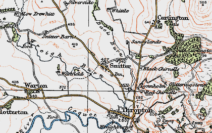 Old map of Wreigh Burn in 1925