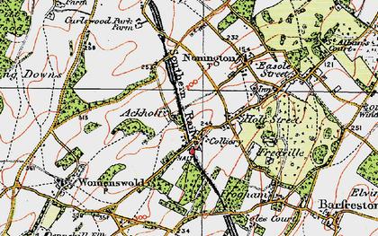 Old map of Ackholt in 1920
