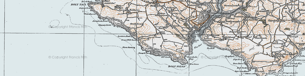 Old map of Lantern Rock in 1919