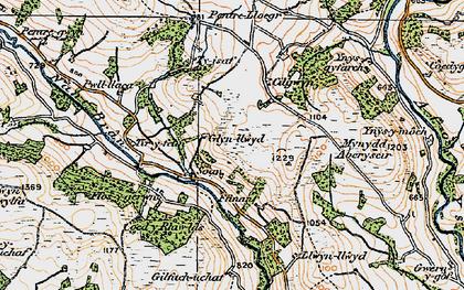 Old map of Tir-y-felin in 1923