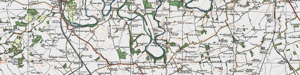 Old map of Wood Head in 1925