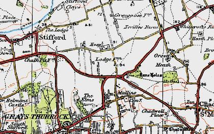Old map of Socketts Heath in 1920