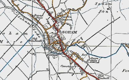 Old map of Soham in 1920