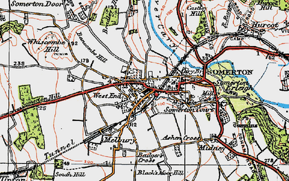 Old map of Ashen Cross in 1919