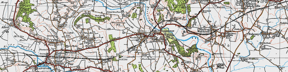 Old map of Somerton in 1919