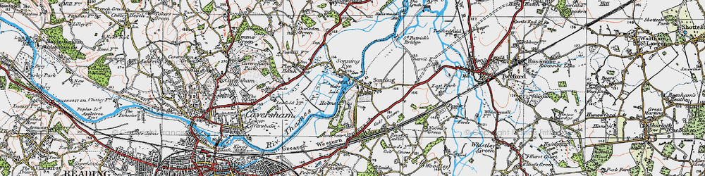 Old map of Sonning in 1919