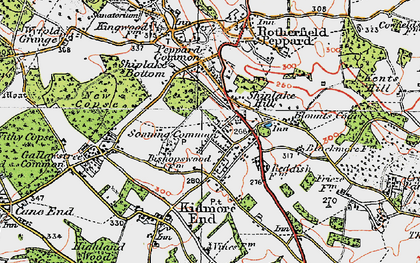 Old map of Sonning Common in 1919