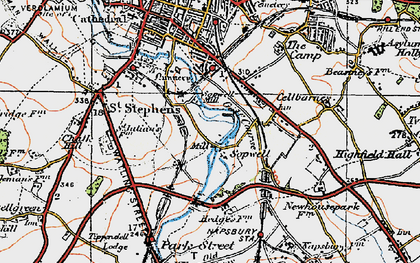 Old map of Sopwell in 1920