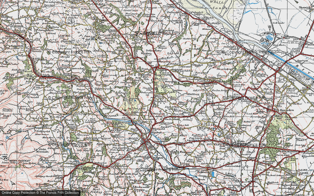 Old Map of Historic Map covering Laurels, The in 1924