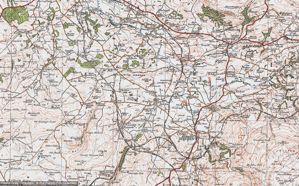 Old Map of Historic Map covering Linehams in 1925