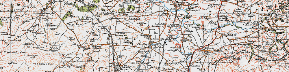Old map of Wyber Hill in 1925