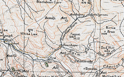 Old map of Atton Burn in 1926