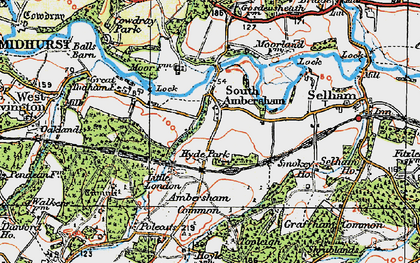 Old map of Ambersham Common in 1920