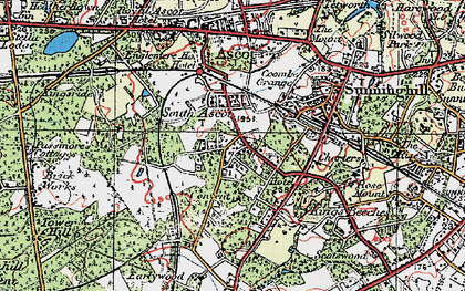Old map of South Ascot in 1920