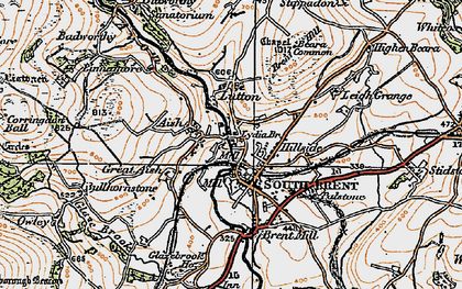 Old map of South Brent in 1919
