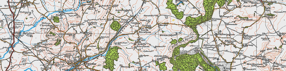 Old map of Alfred's Tower in 1919