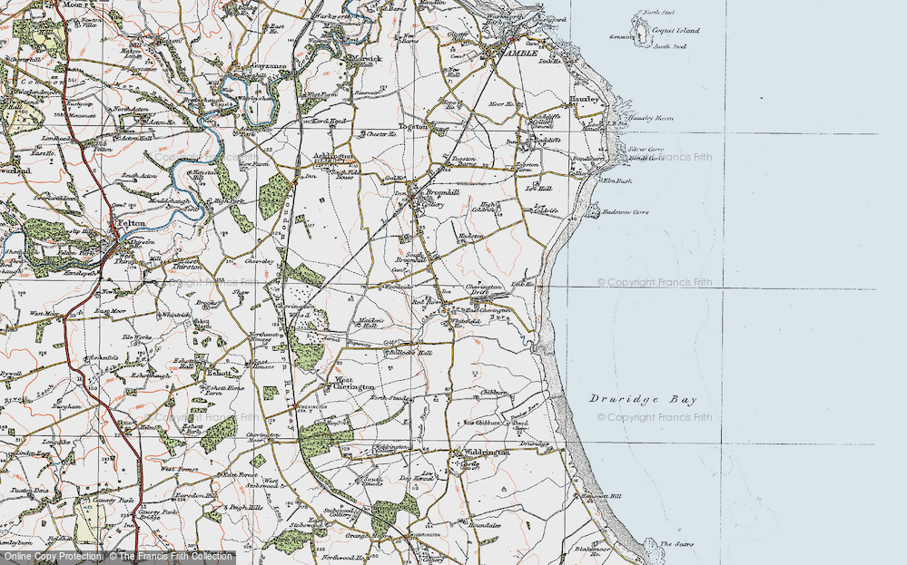 Old Map of South Broomhill, 1925 in 1925