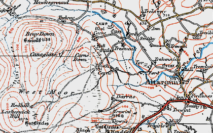 Old map of South Carne in 1919