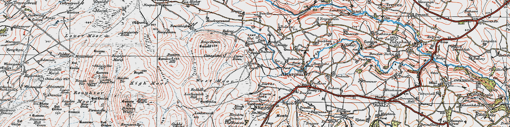 Old map of Westmoorgate in 1919