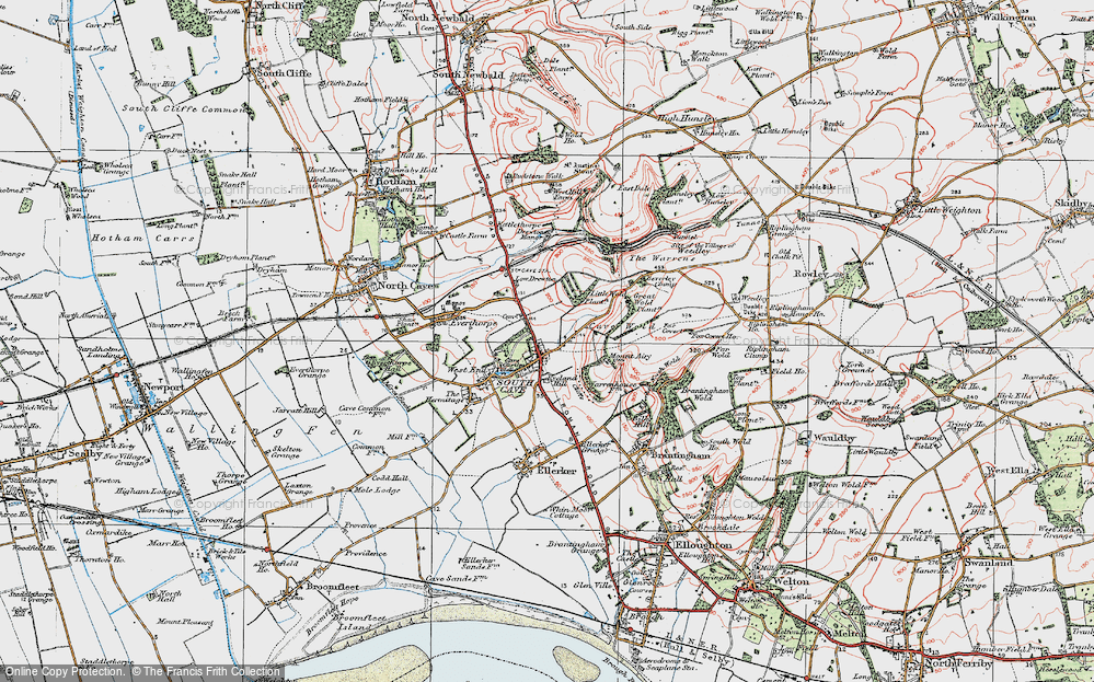 Old Map of South Cave, 1924 in 1924