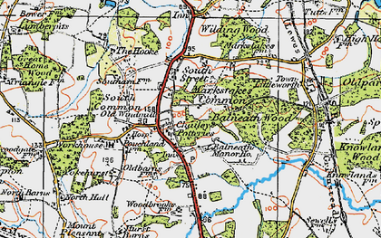 Old map of Balneath Wood in 1920