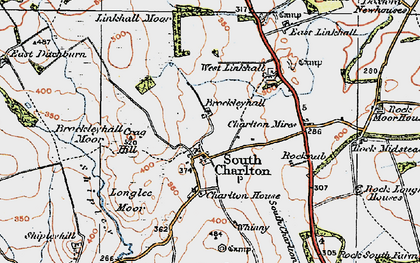 Old map of Linkhall Moor in 1926