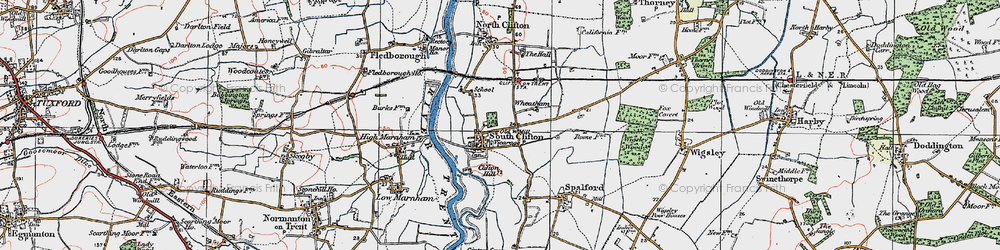 Old map of Wheatholme in 1923