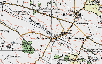 Old map of Barkby Holt in 1921