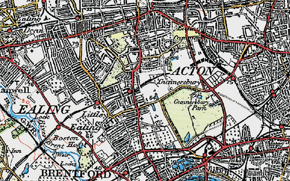 Old map of South Ealing in 1920