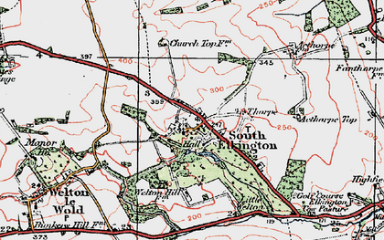 Old map of Ackthorpe Village in 1923